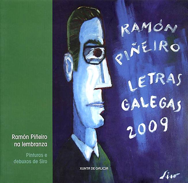 Libro de retratos y caricaturas Ramon Piñeiro na Lembranza