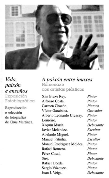 """Cartel de la exposición """"Vida, paixón e ensoños"""", en homenaje a Carlos Gurméndez, 1997"""