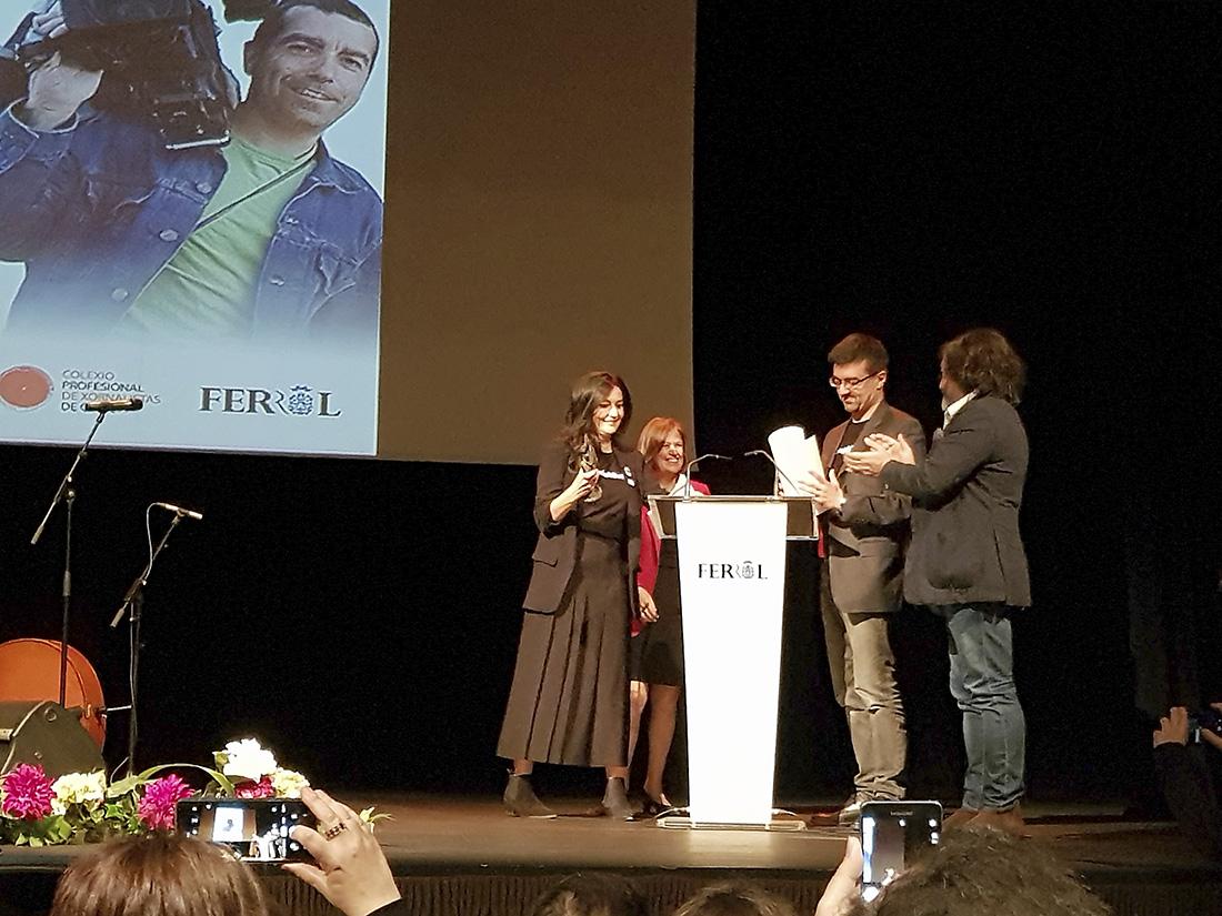 Tati Moyano e Carlos Jiménez reciben o Premio Couso