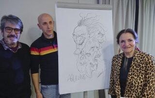 Quico Souto, Carlos Sardiña e Esperanza Piñeiro de San Miguel